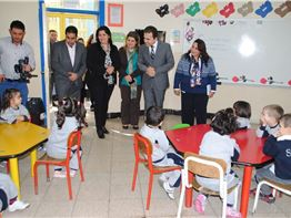 Minister of Education Visit Fakhir Mergasori I.S