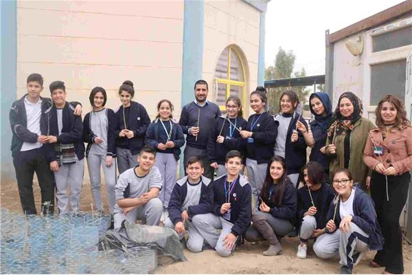 FMIS Students Plant Trees