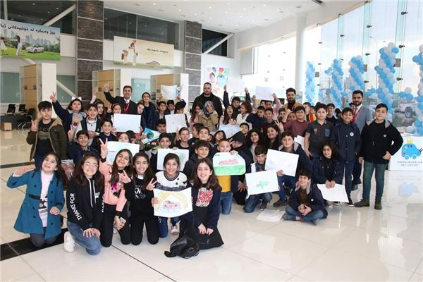 FAKHIR MERGASORI INTERNATIONAL SCHOOL STUDENTS VISIT TOYOTA DEALER FACILITY